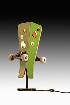 Skateboard Lamp by SK8 Lamp
