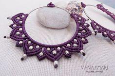 Mandala flowers makrame earrings