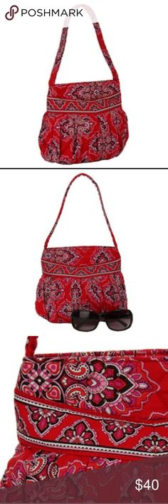 NWOT Vera Bradley Frankly Scarlet Hannah Retired!! Retired Vera Bradley Frankly Scarlet Hannah Bag! NEW Without Tags.                               Carry your personal effects in a Hannah bag from Vera Bradley Handbag features fabric construction Chic tote showcases an intricate scarlet pattern Pleated details on both sides Zip-top closure Two interior patch pockets Available in frankly scarlet color option Single strap Handbag measures 8 inches high x 9 inches long x 3 inches wide Drop…
