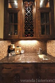 love this for butlers pantry wine rack and mini sink