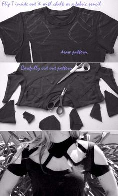 Cool DIY Fashion Ideas | Fun Do It Yourself Fashion projects | Learn how to refashion and sew jeans, T-shirts, skirts, and more | Gucci-Inspired Neck Cutout Top | http://diyprojectsforteens.com/cool-diy-fashion-ideas/