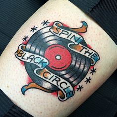 Love the design by Chris Jenko. #tattoo #tattooed #tattoos #record #vinyl