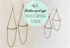 DIY Anthropologie Toulouse Earrings