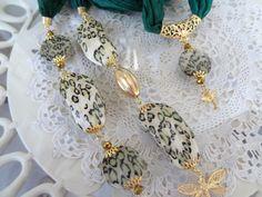 Green Jewelry Scarf Turkish Jewelry Scarf Necklace Jewelry