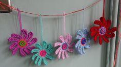 Ravelry: Sunny Flower Garland pattern by Abi Millard