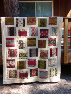 PIECE OF CAKE pattern: modern quilt design to use with traditional fabric