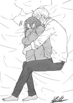 Image, - Anime and Manga World 2020 Anime Couples Cuddling, Anime Couples Sleeping, Romantic Anime Couples, Romantic Manga, Anime Couples Drawings, Anime Couples Manga, Anime Guys, Anime Couples Hugging, Emo Anime Girl