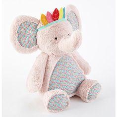 "Levtex Baby Elephant Plush - Pink/Grey - Levtex Baby - Toys ""R"" Us"