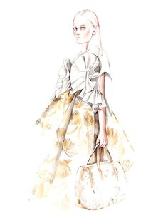 Delpozo SS2016 fashion illustration by António Soares