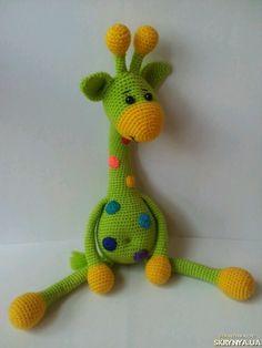 Купить Вязаный жираф 43 см в Украине