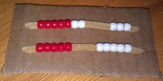 how to make a rekenrek bracelet