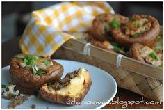 Spring Onion Mushroom Bun | Resipi Citarasawan