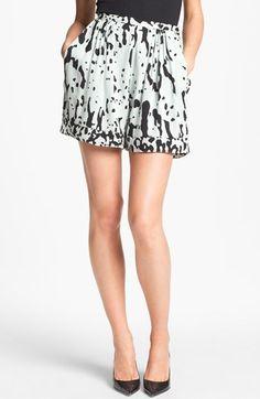 Diane von Furstenberg Atty Stretch Silk Shorts $245.00