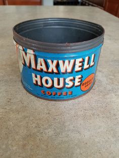 Vintage Maxwell House Coffee Tin 1lb by 3LittleWitches on Etsy