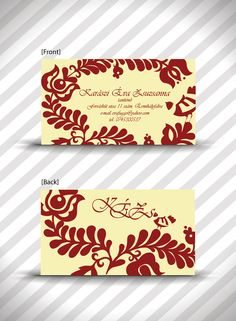 Hungaryan motif busines card!