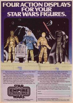 1987 Star Wars The Empire Strikes Back — Action Figure Displays