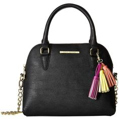 cd1db1a876 Steve Madden BHelena Dome Satchel (Black/Yellow/Coral/Fuchsia Tassels).