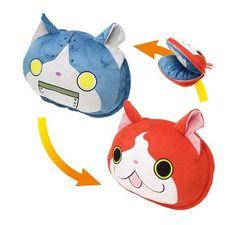 Yokai Youkai Watch Change Face Cushion Jibanyan Doll Plush Cute Kids Toy Boys