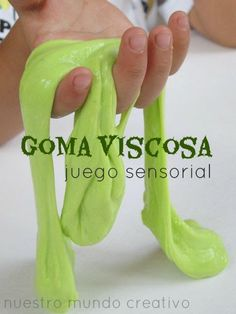 Sticky Slime two ingredients  l Goma Viscosa de dos ingredientes