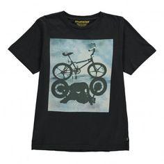 Bike Shadow T-Shirt Noir  Munsterkids
