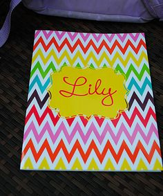 Look at this Swirl Designs Zigzag Personalized Folder on #zulily today!