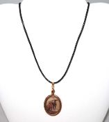 ALTERED VINTAGE ART - Two Greyhounds on copper pendant necklce