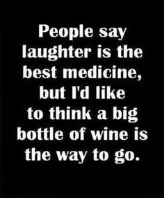 Wine and laughter!!!