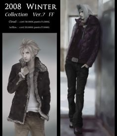 Winter Collection by nawo - Final Fantasy VII - Cloud / Sephiroth -  http://www.pixiv.net/member.php?id=251380