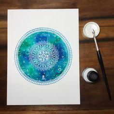 Color Me archivo impresión de arte Mandala por MagaMerlina en Etsy