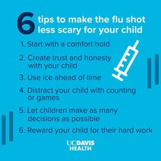 Flu shot season can bring stress and anxiety for many children! UC Davis Health Child Life specialist Marisa Martinez offers tips for parents and caregivers to help children cope: #children #health #fluseason Child Life Specialist, Children Health, Flu Season, Caregiver, Stress And Anxiety, Scary, Parents, Let It Be, Tips