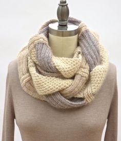 Challah+Infinity+Scarf+PDF+Knitting+Pattern+от+PamPowersKnits,+$7.00