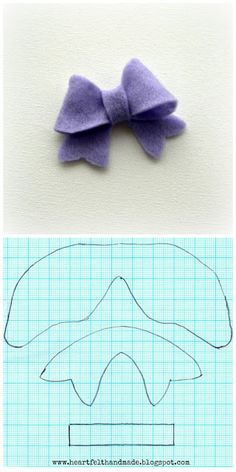 25 Images of Felt Bow Template For Cricut Felt Diy, Felt Crafts, Fabric Crafts, Sewing Crafts, Diy Crafts, Felt Flowers, Fabric Flowers, Felt Hair Bows, Bow Template