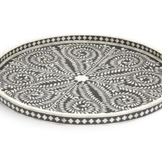 # $279 #Worldwide delivery #Email at -info@wishmecraft.com. This Bone Inlay Tray is simply stunning and perfect for serving food or drinks. This beautiful decorative piece that could sit anywhere in your home. Round Tray, Chest Of Drawers, Luxury Furniture, Bones, Delivery, Drinks, Beautiful, Black, Food