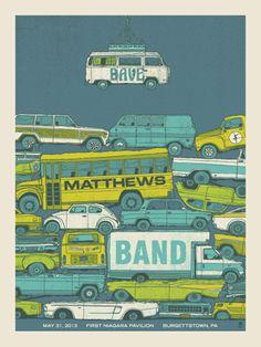 DMB BURGETTSTOWN 2013 « Dave Matthews Band Posters « Methane Studios