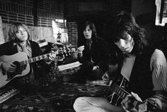 Brian Jones, Keith Richards & Mick Jagger during a jam-session at Redlands, 1968, by M. Cooper | by Photo Tractatus