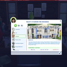 Mod The Sims - Librarian Career