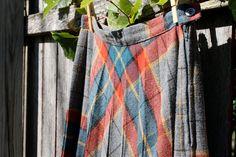 vintage pleated plaid skirt - size 7 - jloriginals $25 on @Etsy