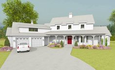 Modern Farmhouse with Angled Garage Plus Bonus Room Above - 28912JJ   1st Floor Master Suite, Bonus Room, Butler Walk-in Pantry, Country, Den-Office-Library-Study, Farmhouse, PDF, Traditional   Architectural Designs
