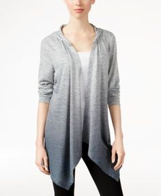 Style & Co. Dip-Dyed Hooded Cardigan, Only at Macy's   macys.com