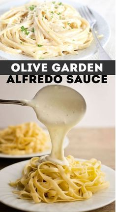 If you are a fan of Olive Garden Alfredo Sauce you are going to be saving some big money with this. Whether you are planning a cozy dinner for two at home or throwing a grand tea-party, this Olive Garden alfredo sauce recipe is a Pasta Recipes, Dinner Recipes, Cooking Recipes, Healthy Recipes, Restaurant Recipes, Olive Garden Alfredo Sauce Recipe Easy, Fettucini Alfredo Olive Garden, Homemade Chicken Alfredo Sauce, Fettucini Alfredo Chicken