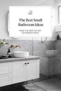 The best small bathroom ideas for your bathroom. You need to see these small bathroom ideas that will transform your space. small bathroom remodel - small bathroom design - small bathroom decor - small bathroom storage - small bathroom layout - small bathroom ideas on a budget - small bathroom makeover - small bathroom inspiration - small bathroom vanity ideas Shower Fittings, Small Bathroom Storage, Small Bathroom Decor, Bathroom Space, Free Standing Bath Tub, Small Bathroom, Small Bathroom Vanities, Sophisticated Bathroom, Bathroom Design