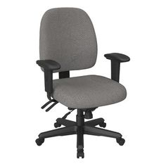 global granada 3212 low back chair with multi tilter silhouette