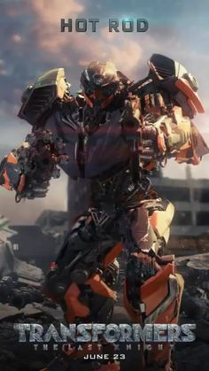 Hot Rod in Transformers: The Last Knight promotional motion poster