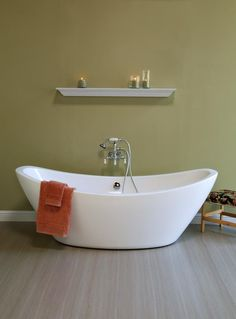 40302e5e4c1 Strom Plumbing By Sign Of The Crab Wall Mount Faucet Bathtub Acrylic Tub
