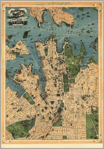 maps.com - antique map of Sydney 75.5cm x 107.95 unframed State Library