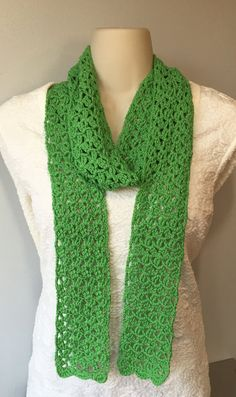 Scarf Fashion Accessory Spring Green Lace by MonicaWilgaDesigns