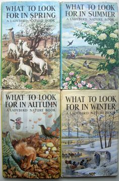 Love these vintage Ladybirds http://www.millyanddottie.com/userimages/procart8.htm.  Illustrated by Tunnicliffe