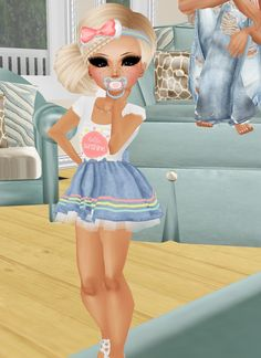 If this lil imvu baby aint adorable then I don't know what is she is cute as cute can get! Cuppycake is this little angel on imvu.