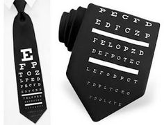 Eye chart tie.