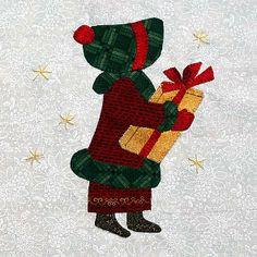 Eveline und 1001 Quilts: Die Sunbonnets im Detail Paper Pieced Quilt Patterns, Applique Quilts, Sunbonnet Sue, Holly Hobbie, Free Machine Embroidery Designs, Quites, Paper Dolls, Quilt Blocks, Quilting Ideas
